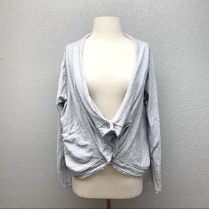 Fenini rouched button up cardi sweater
